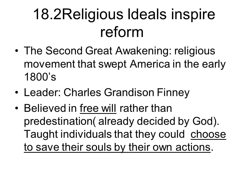 Focus: Monday April 11, 2011 Leaders like Finney held revivals- huge outdoor meetings.