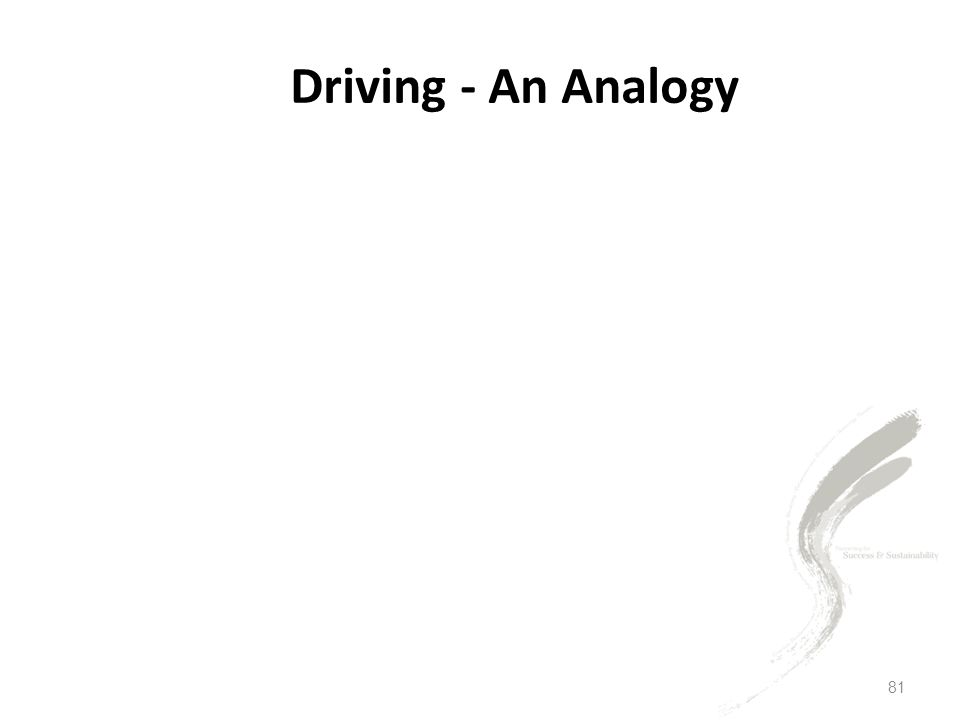 81 Driving - An Analogy