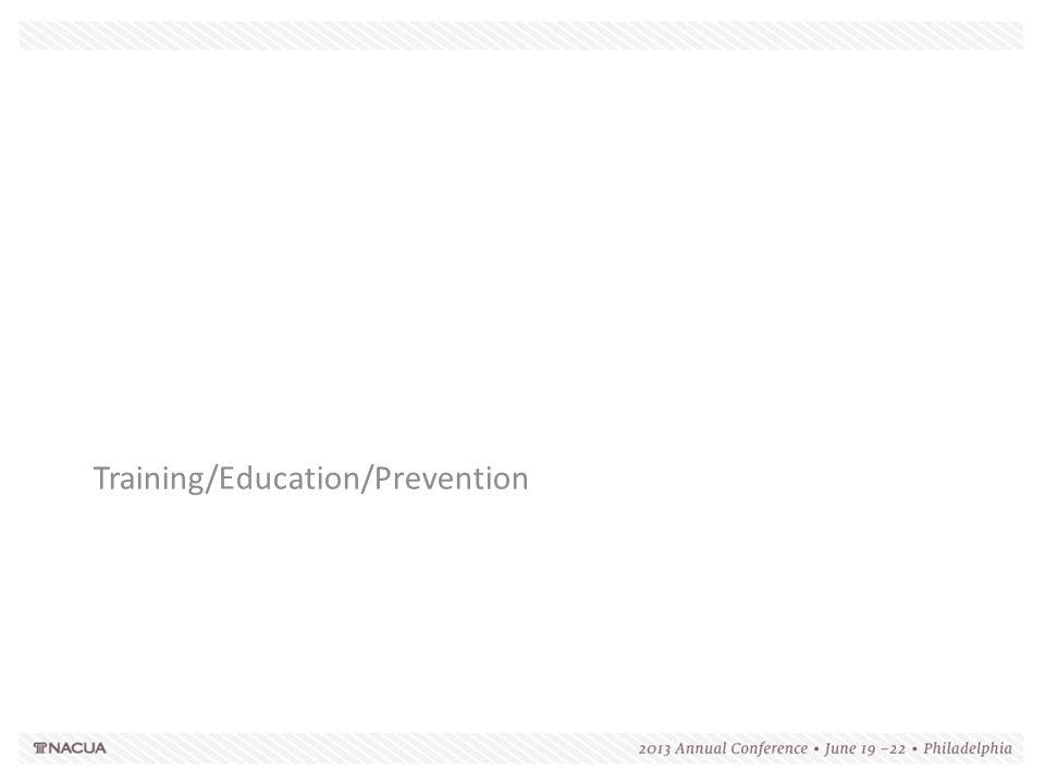Training/Education/Prevention