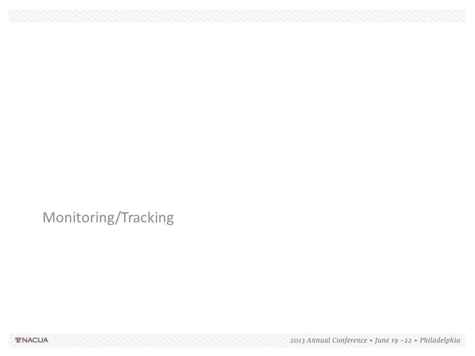 Monitoring/Tracking