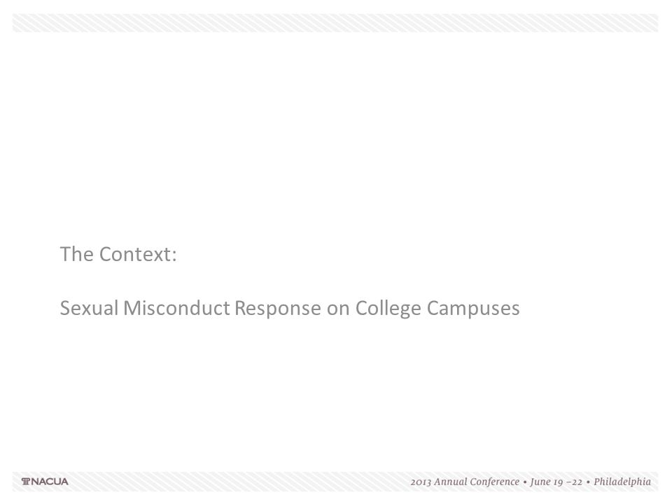 Clery Requirements and Sexual Misconduct  Develop educational programs to promote awareness of rape, acquaintance rape and other forcible and non-forcible offenses  Develop procedures students should follow if a sex offense occurs, including:  Reporting procedures  The importance of preserving evidence  Provide information on a student's option to notify appropriate law enforcement authorities including information so that students know what notifying law enforcement authorities entails  Provide notification to students that the university will assist them in notifying these authorities  Provide notification to students of existing on and off campus counseling, mental health or other student services for victims of sex offenses  Provide notification to students that the university will consider changing a victim's academic and living situation after an alleged sex offense, and the options for those changes if those changes are requested by the victim and are reasonably available  Develop procedures for campus disciplinary action in cases of an alleged sex offense  Make clear that the accuser and accused are entitled to the same opportunities during a disciplinary proceeding  Inform the accuser and the accused of the outcome of any institutional disciplinary proceeding that is brought alleging a sex offense (Not precluded by FERPA)  Develop sanctions the university may impose following a final determination of an institutional disciplinary proceeding regarding rape, acquaintance rape or other forcible or non-forcible sex offenses  Duty to warn/Timely warnings (Not precluded by FERPA)