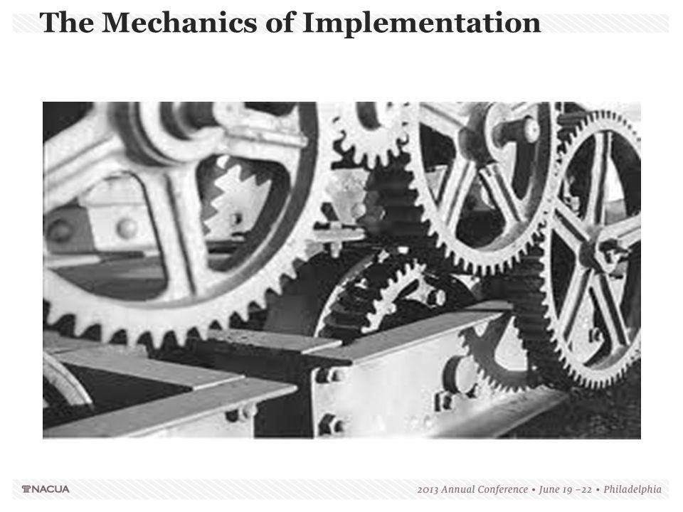 The Mechanics of Implementation Built