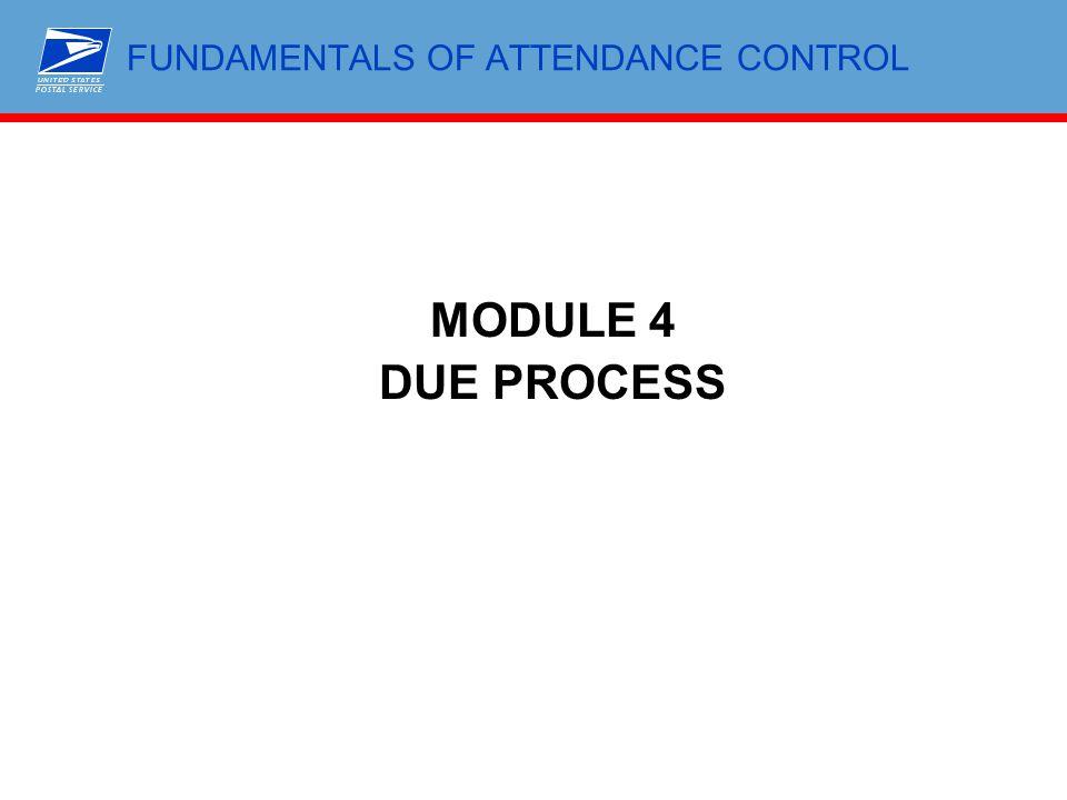FUNDAMENTALS OF ATTENDANCE CONTROL MODULE 4 DUE PROCESS