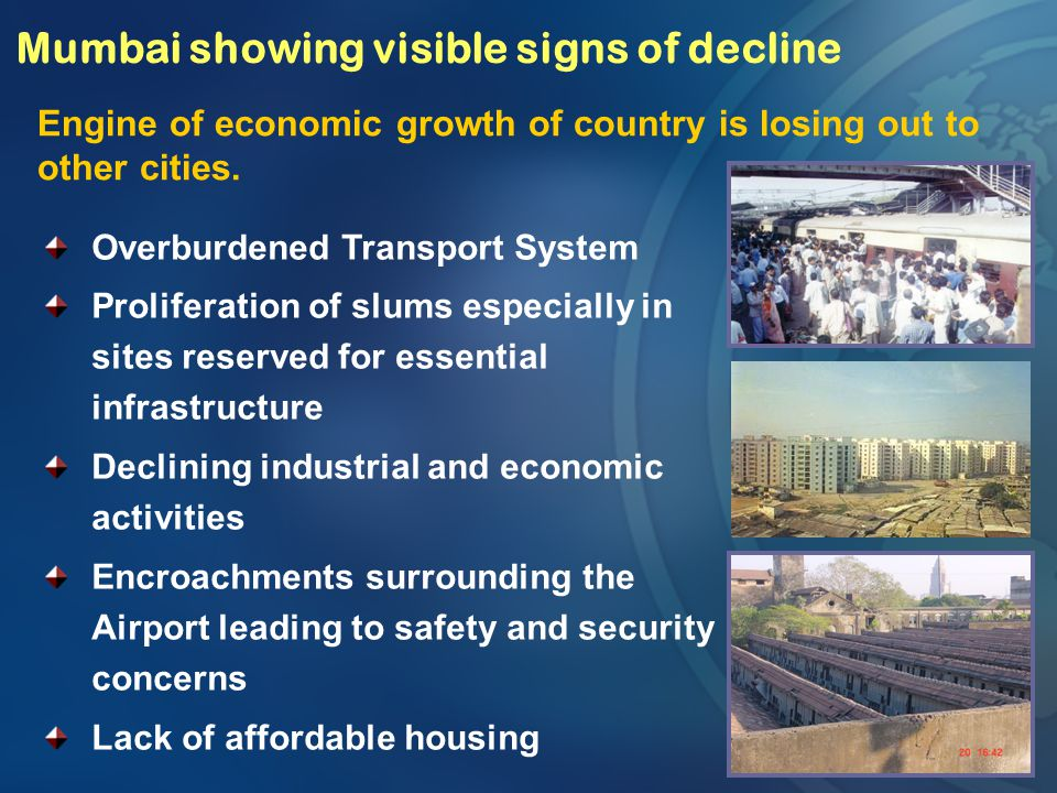 Resettlement Townships MMRDA has constructed about 50,000 tenements with all the physical and social infrastructure for resettlement of 3,50,000 slum dwellers at different locations in Mumbai and the construction balance 8,000 tenements is in progress Every PAH / Slum dwelling family is allotted 225 Sq.