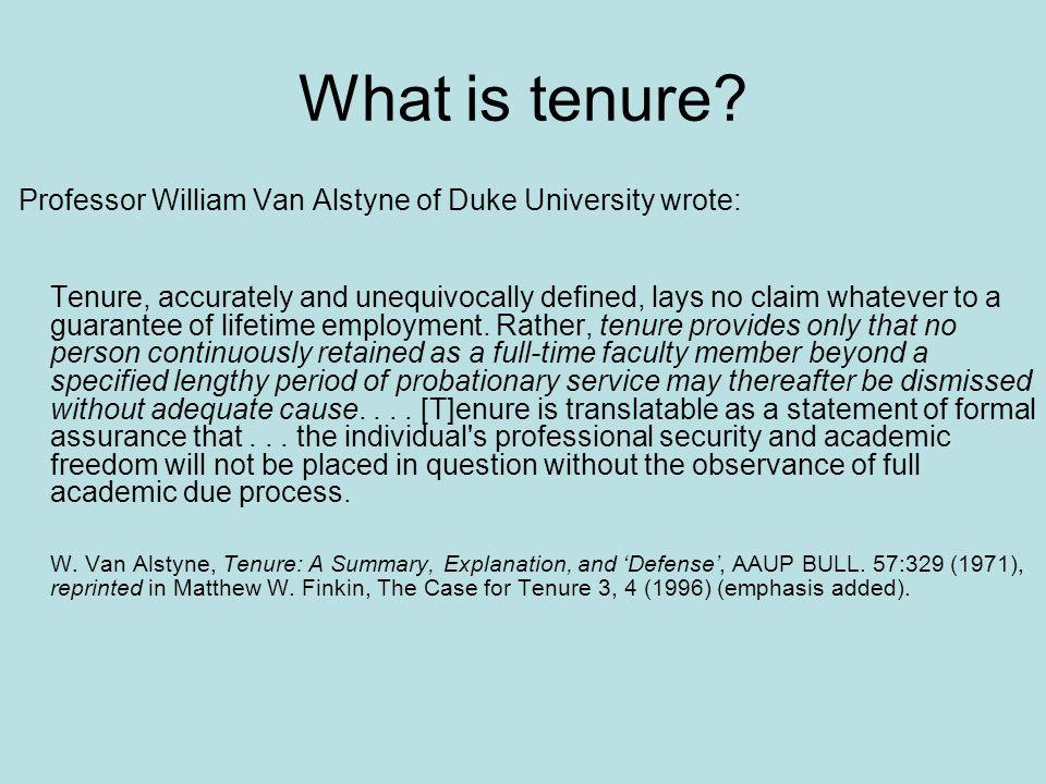 What is tenure.