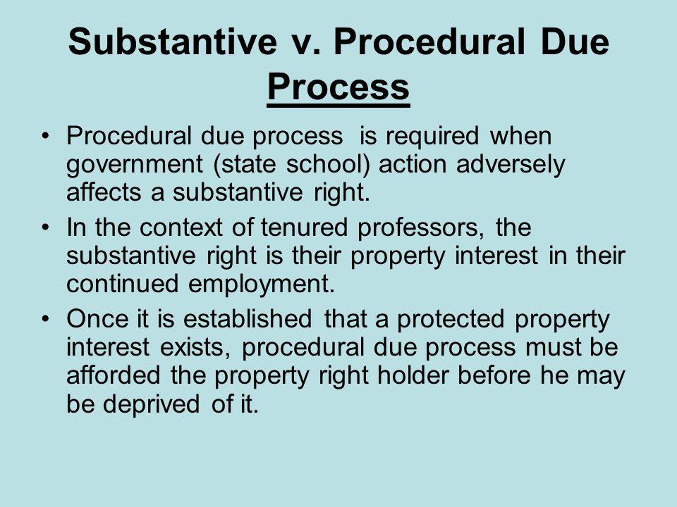 Substantive v.