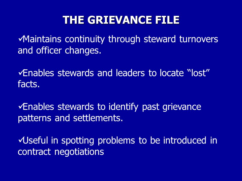 GRIEVANCE WRITING 12 POINTS ON WRITING THE GRIEVANCE: REMEMBER, WRITING CONCISELY CAN HELP CLARIFY THINKING.