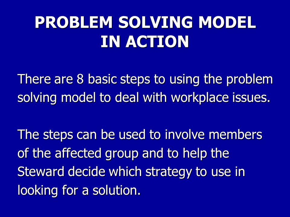 PROBLEM SOLVING STEPS 4.Brainstorm for solutions.