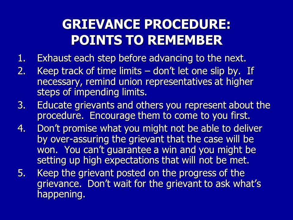 WHY UNIONS LOSE GRIEVANCES 19.Union stewards forget time limits.