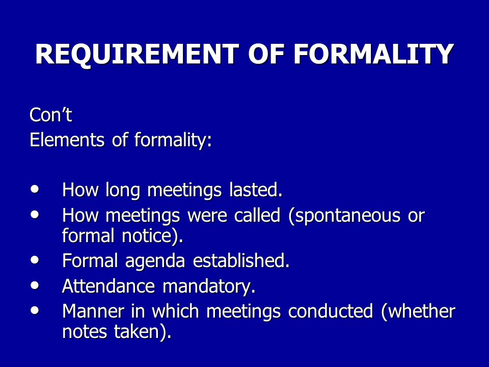 REQUIREMENT OF FORMALITY Discussion must be formal within meaning of §7114(a)(2)(A) of Statute for there to be an obligation to notify union. (SSA, 10