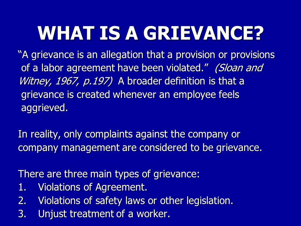 GRIEVANCE S