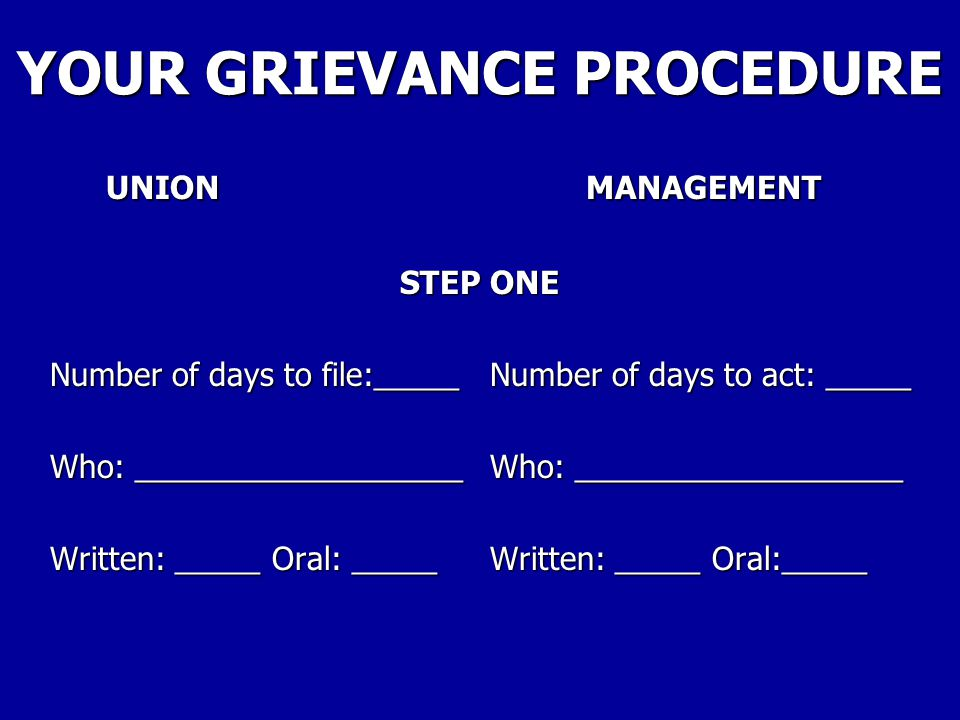 YOUR GRIEVANCE PROCEDURE The Negotiated Grievance Procedure for my local is found at: The Negotiated Grievance Procedure for my local is found at: Article __34____ Article __34____ Sections _1-13_ Sections _1-13_ Pages _36-41_ of the Contract.