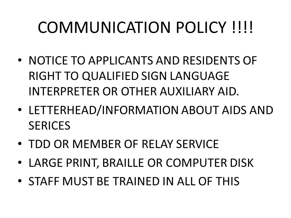 COMMUNICATION POLICY !!!.
