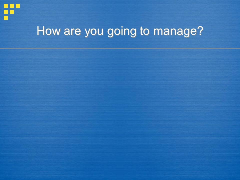 Product mix management Possible vendor selection criteria.