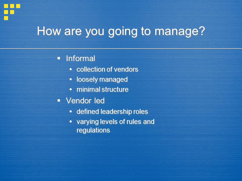 Product mix management Vendor preferences vs.the market's best interests.