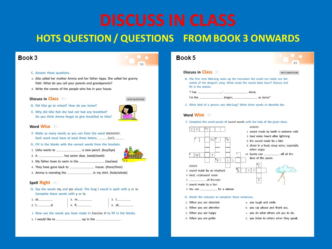 Book 3Book 5 DISCUSS IN CLASS HOTS QUESTION / QUESTIONS FROM BOOK 3 ONWARDS