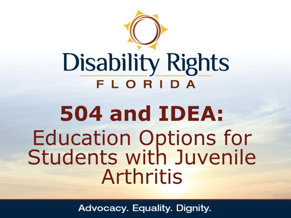 IDEA: Individuals with Disabilities Education Act (2004) Principal law relied upon to obtain appropriate educational services IDEA requires public school districts to seek out and identify children with disabilities in all settings (Public, private and home schooled students) Students with disabilities in public schools who are found eligible for ESE services are entitled to a free and appropriate education IDEA requires the development of an IEP