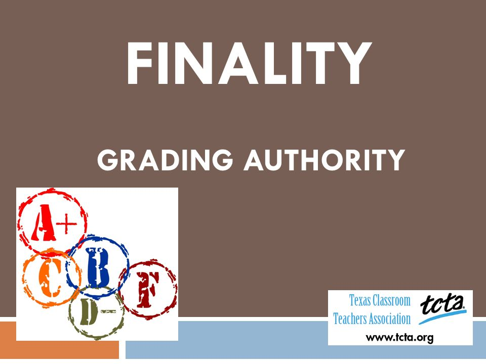 FINALITY GRADING AUTHORITY