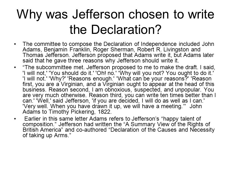 John Calhoun's Critique of the Declaration of Independence ( The most dangerous of all political errors ) The Southern theorist of nullification wrote and spoke numerous times against the Declaration of Independence, especially the hypothetical truism that all men are created equal.