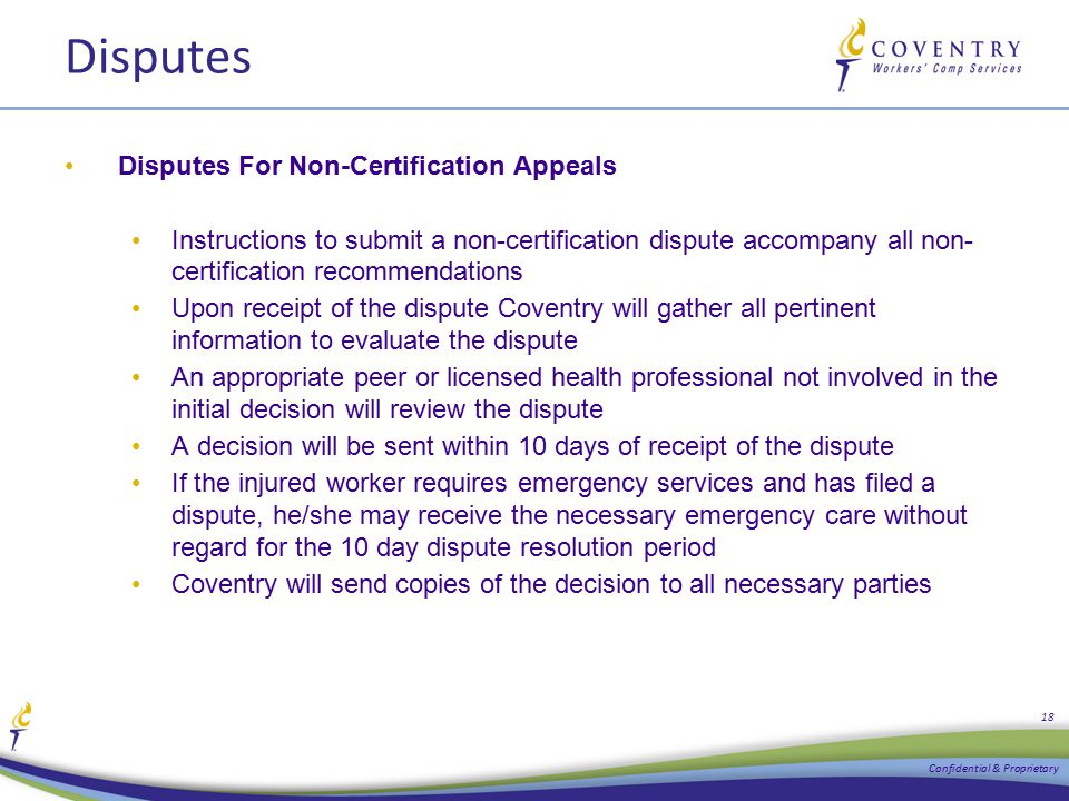 Disputes Disputes For Non-Certification Appeals Instructions to submit a non-certification dispute accompany all non- certification recommendations Up