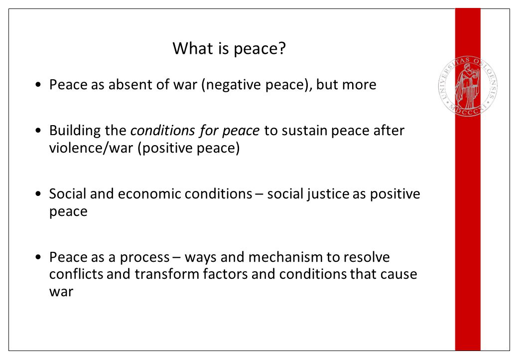 What is peace.