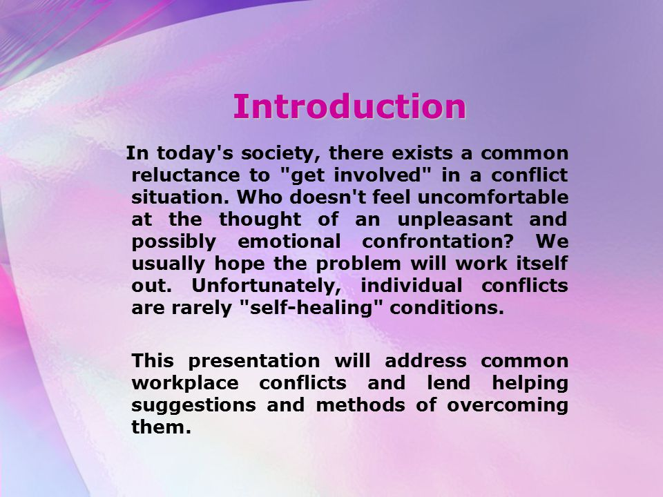 Introduction In today's society, there exists a common reluctance to