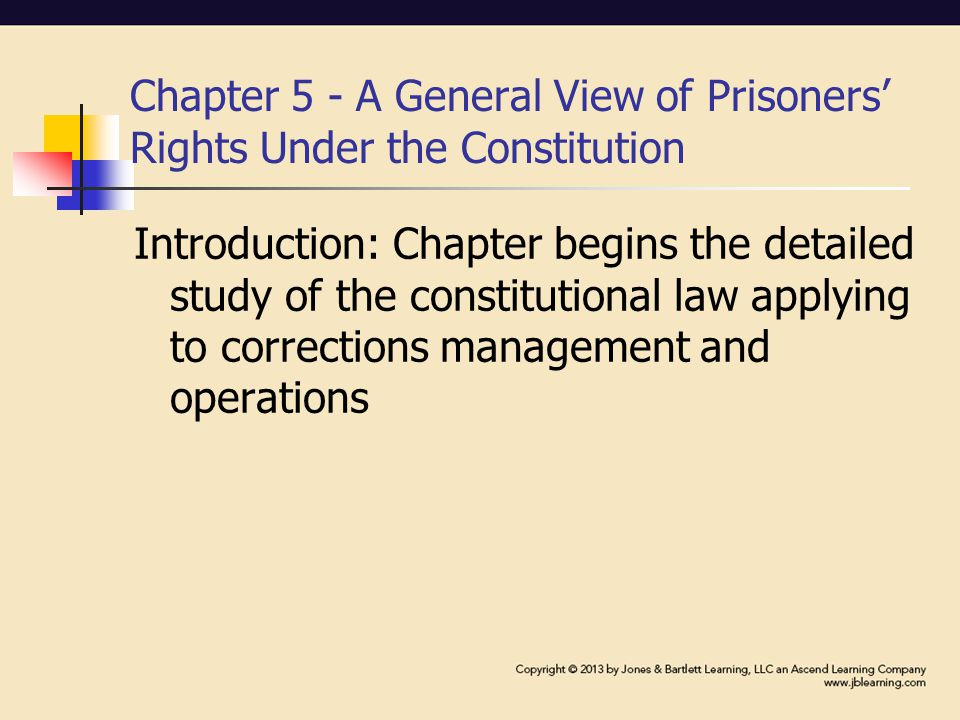 Section 1983 and the Constitution Section 1983 - most common means for taking legal action against prison officials Section 1983 – used to establish most of the constitutional rights afforded to inmates Wider scope of judicial review Broader relief opportunities
