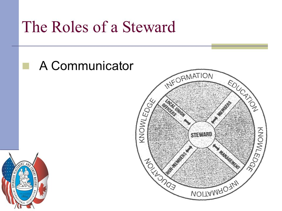 The Roles of a Steward A Communicator