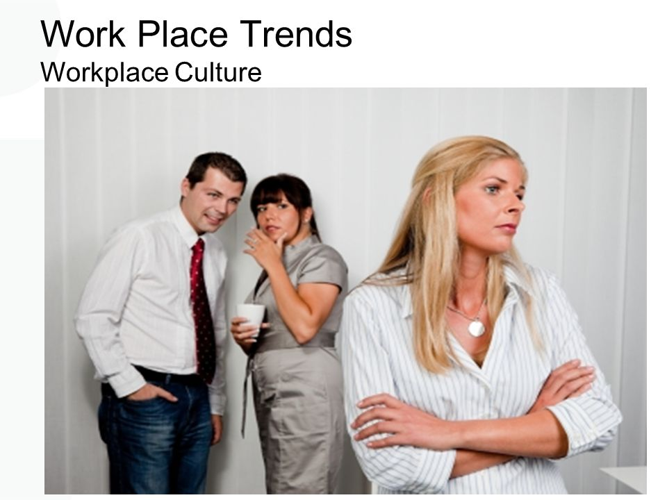Work Place Trends Workplace Culture 2.5 million Australians have experienced workplace bullying. Bullying costs workplaces between $10 - 36 Billion pe