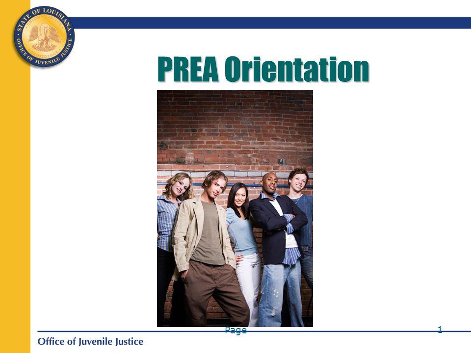 Page 1 PREA Orientation