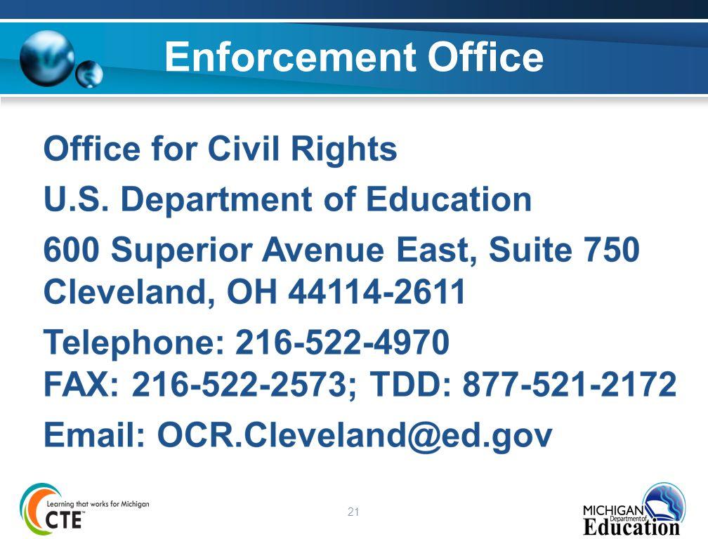 21 Enforcement Office
