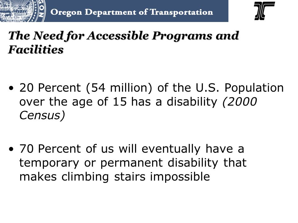 Title II – Maintaining Accessibility Maintaining Accessibility 28 CFR 35.133 State and local governments must maintain the accessible features of facilities in operable working conditions (for example: curb ramps, sidewalk breaks, buckled bricks) Poorly maintained facilities are not accessible or safe