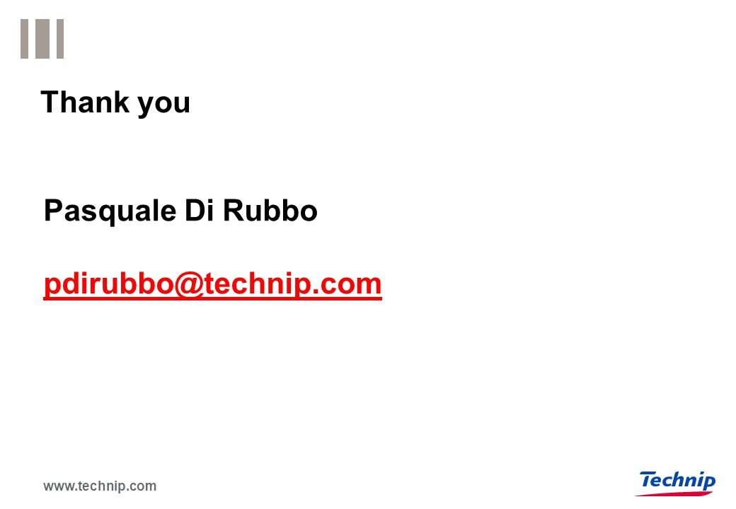 www.technip.com Thank you Pasquale Di Rubbo pdirubbo@technip.com