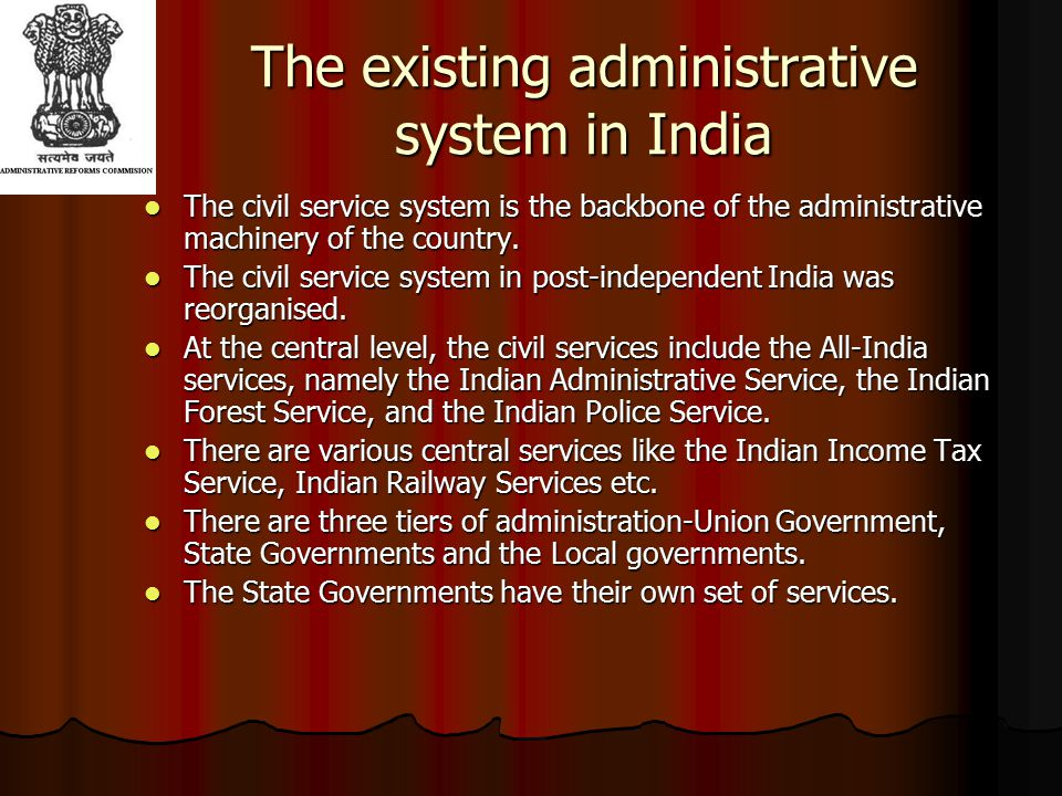 Administrative Reforms in India after independence ……(contd) The Gorwala Committee appointed by the Planning Commission.