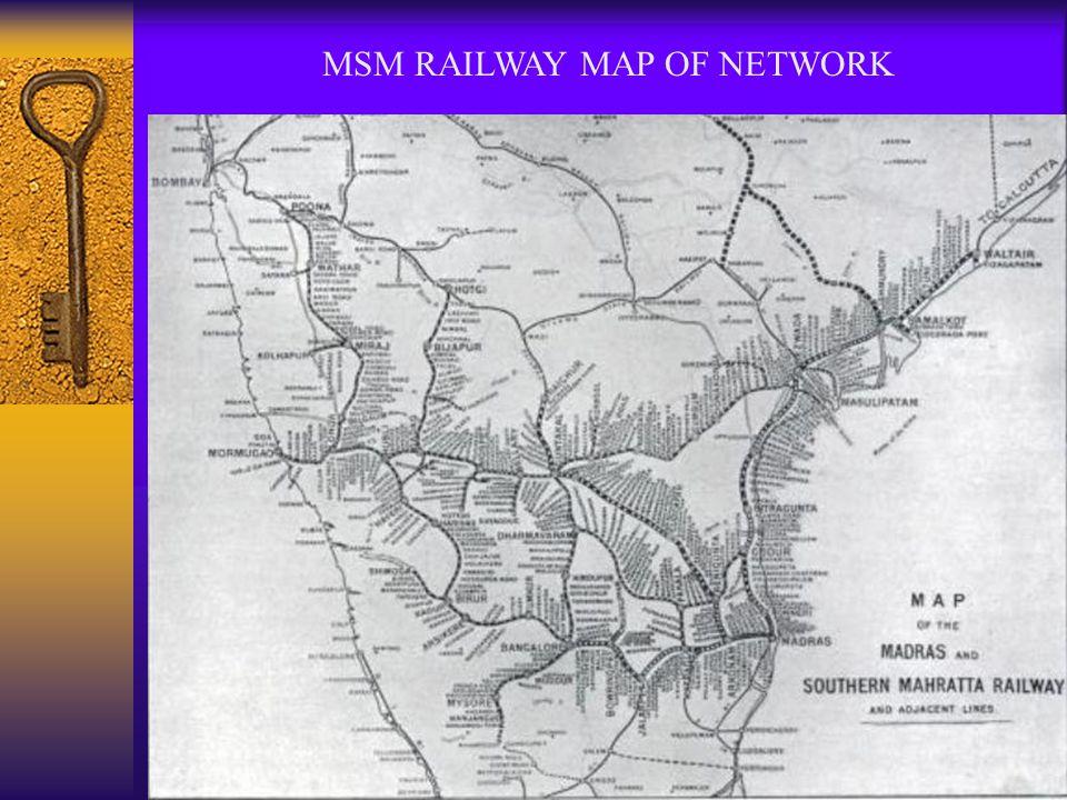 MSM RAILWAY MAP OF NETWORK