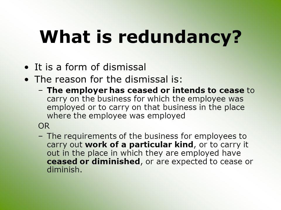 What is redundancy.
