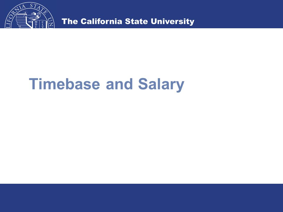 Timebase and Salary