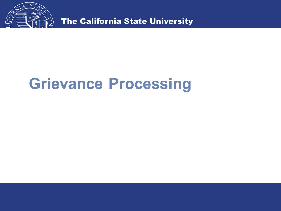 Grievance Processing