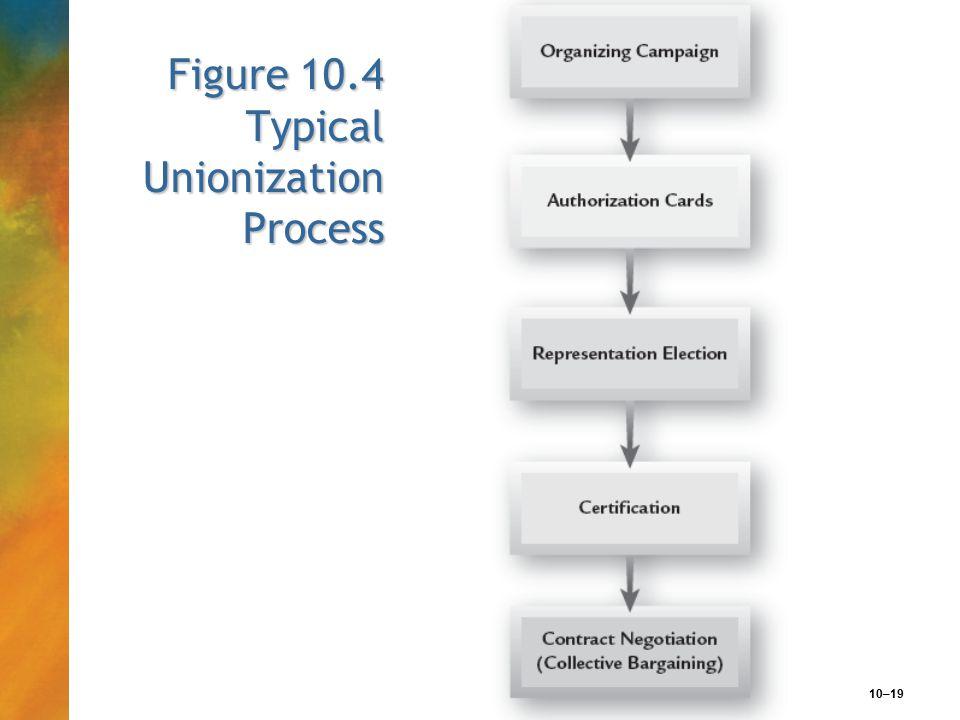 10–19 Figure 10.4 Typical Unionization Process