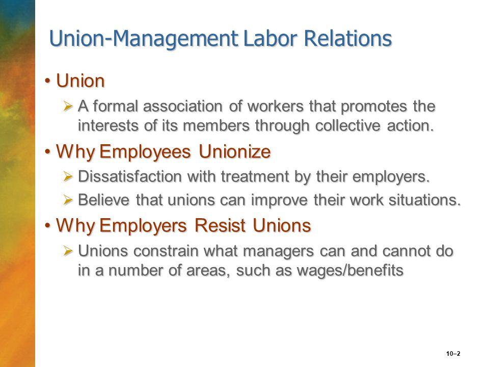 10–3 FIGURE 10.1 Factors Leading to Employee Unionization