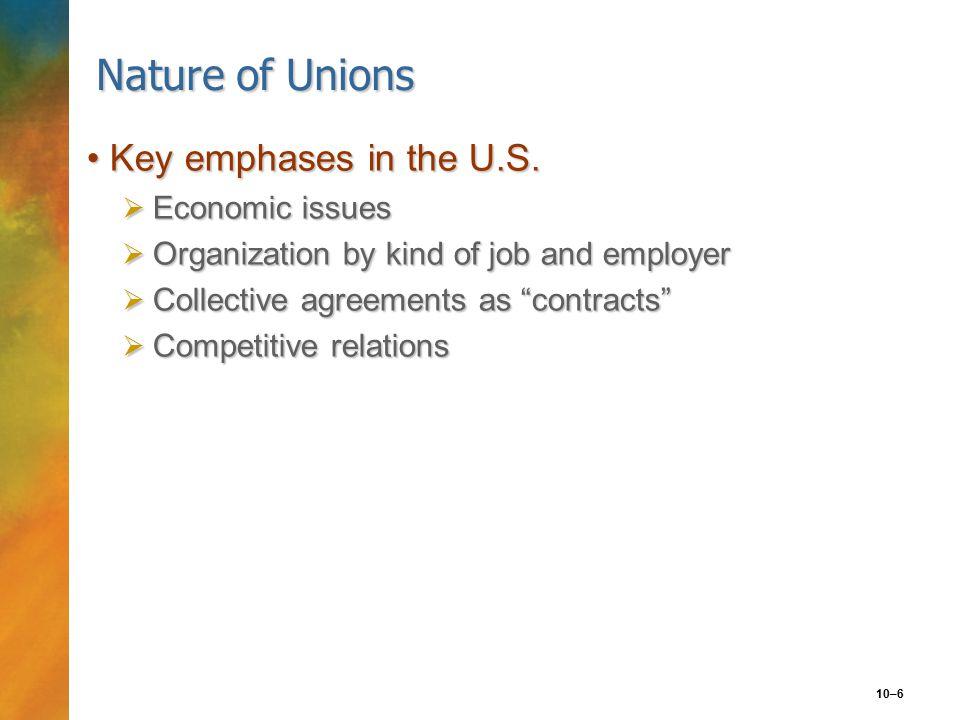 10–7 Reasons for U.S.