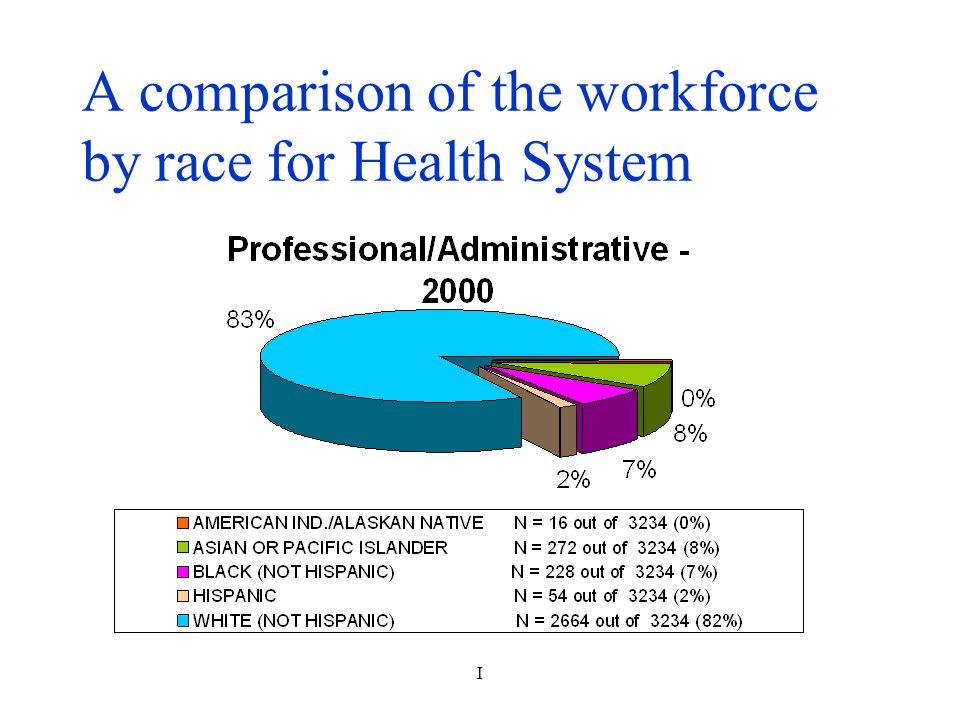 I A comparison of the workforce by race for Health System