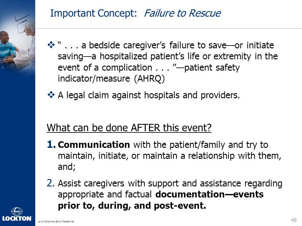 g\unit 22\jturvey\2011\4 Cs.pptx\lmb Important Concept: Failure to Rescue  ...