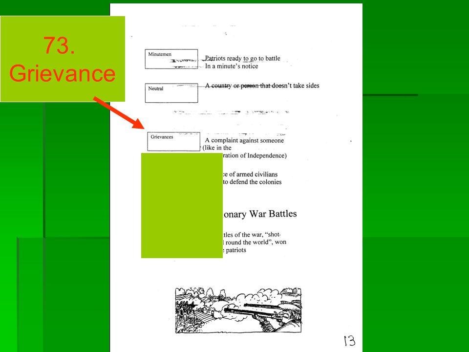 73. Grievance