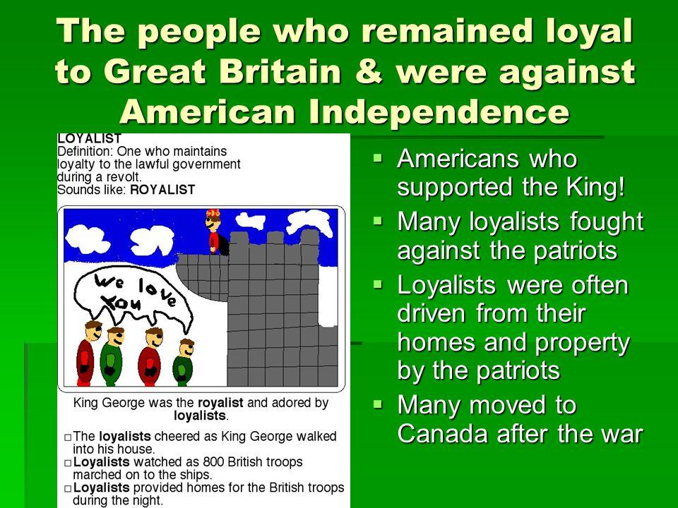 63. Loyalists