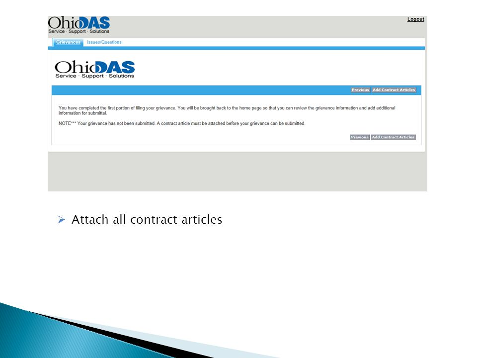  Attach all contract articles
