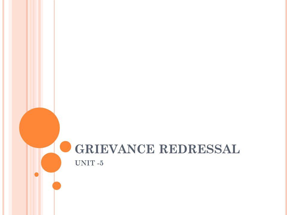 GRIEVANCE REDRESSAL UNIT -5