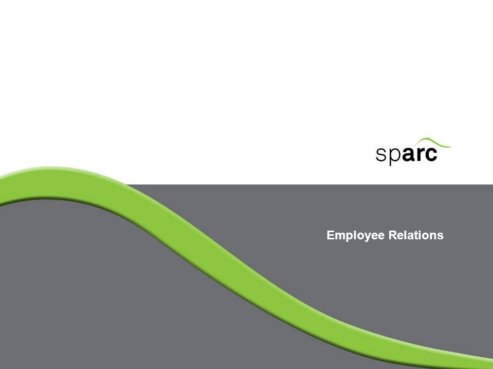 www.sparc-nigeria.com To provide participants with preliminary knowledge base to begin to function in the new HR department To acquaint participants with the core areas of HR concern in ER To identify the essence of the Labour Act germane to HR duties Session Objectives