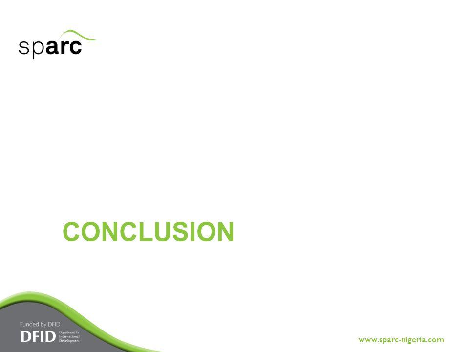 www.sparc-nigeria.com CONCLUSION