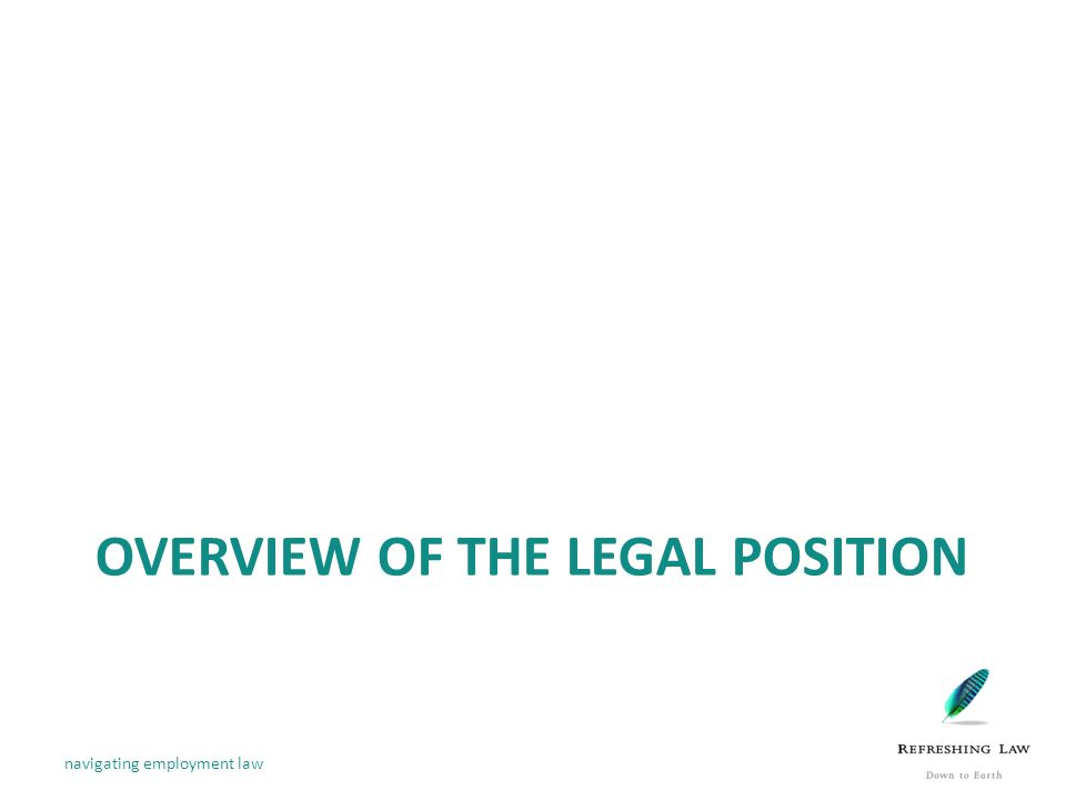 OVERVIEW OF THE LEGAL POSITION navigating employment law